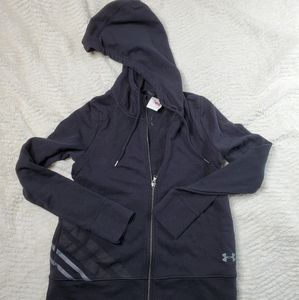 New Under Armour Size XS Black Zip Up Hoodie